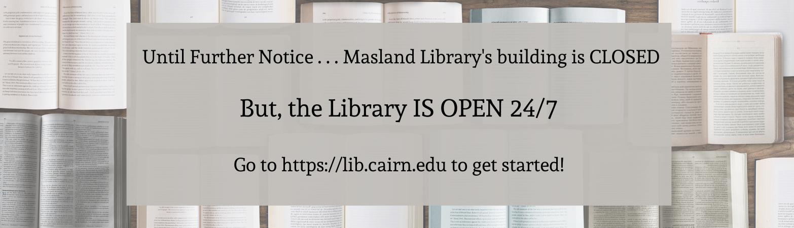 eLibrary  is still open